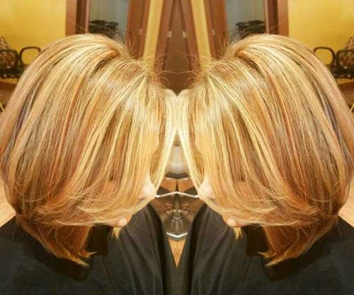 Blonde Lowlighted Long Bob Hair