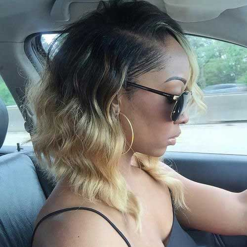 Best Blonde Ombre Long Wavy Bob