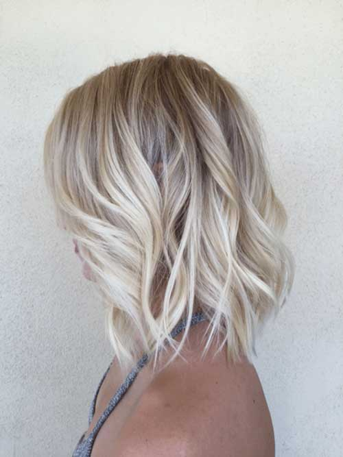 Blonde Sassy Lob Cuts