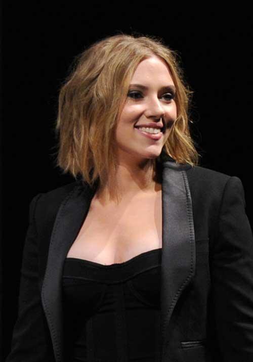 Scarlett Johansson Bob Hairstyles 2015