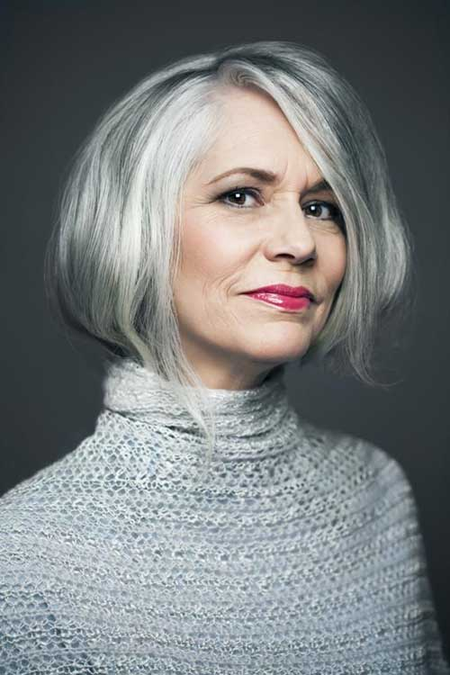 Beautiful Bob Hairstyles for The Older Woman