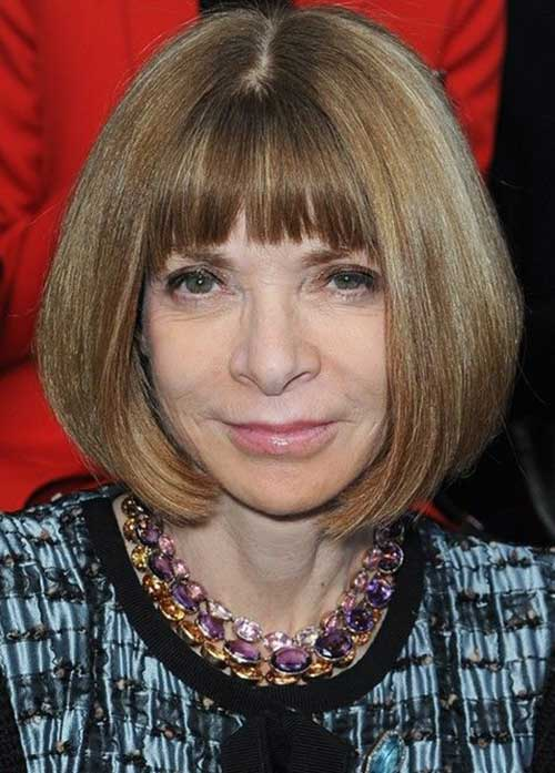 Best Bob Hairstyles with Blunt Bangs for Older Women