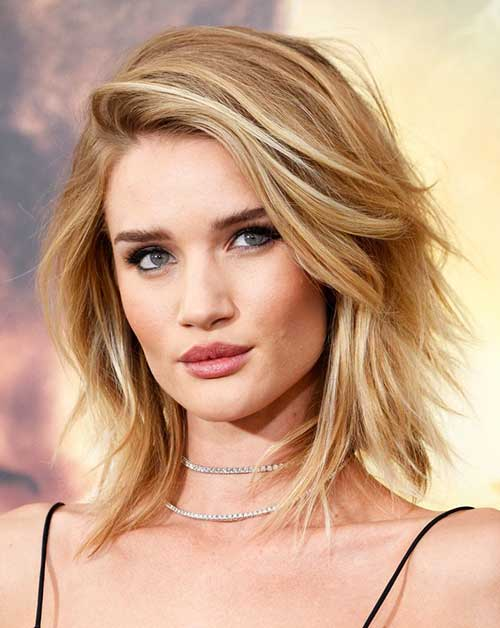 Rosie Huntington Whiteley Bob Hairstyles
