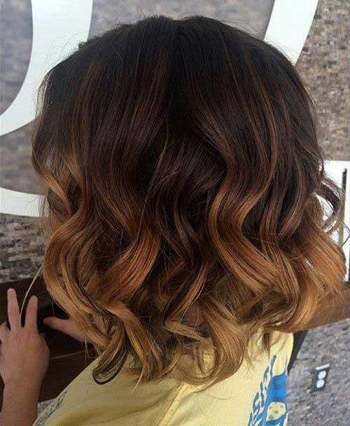 Brown Ombre Bob Hair
