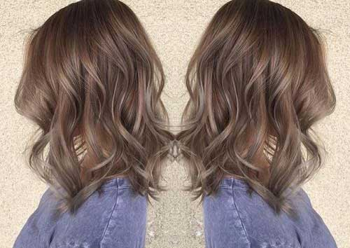 Ash Brown Brunette Bob Cuts
