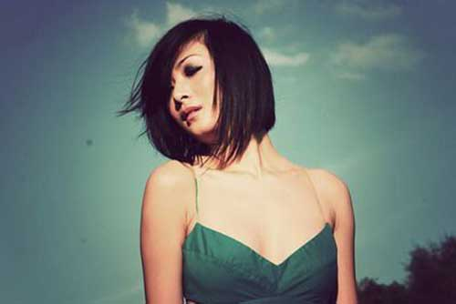 Chinese Style Choppy Bob Hairstyles Pictures
