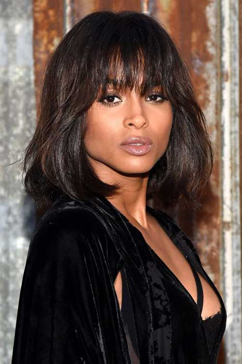 Ciara Short Long Bob Hairstyles
