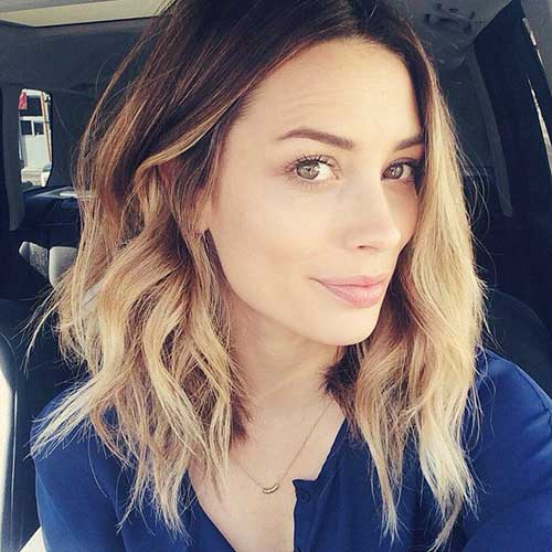 Best Cute Long Bob Hair Wavy Style