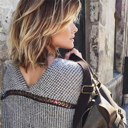 Cute Long Dark Blonde Bob Haircut
