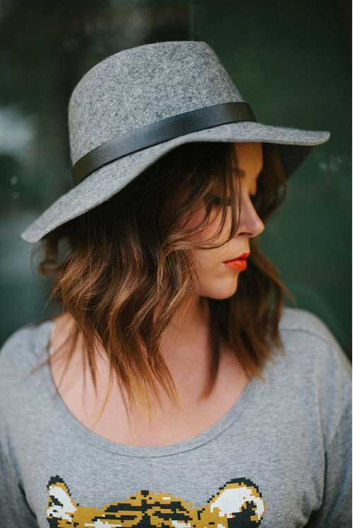 Cute Long Loose Wavy Bob Cut
