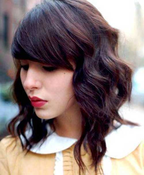 Phenomenal Cute Shoulder Length Haircuts With Bangs Best Hairstyles 2017 Short Hairstyles Gunalazisus
