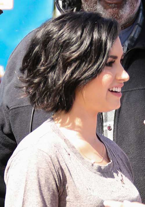 Dark Brown Layered Bob Hairstyles