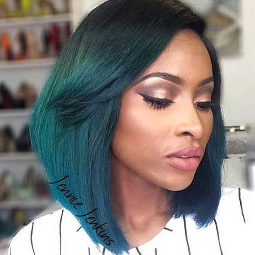 Best Dark Green Bob for Black Women