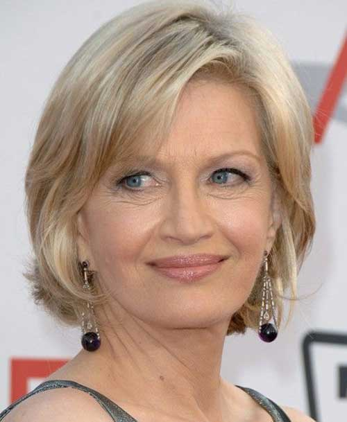 Diane Sawyer Bob Hairstyles Women Over 50