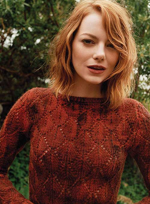 Emma Stone Long Wavy Bob Haircuts