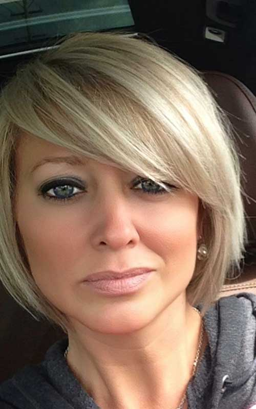Girls Bob Cut Blonde Hair