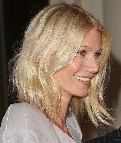 Gwyneth Paltrow Long Blonde Bob