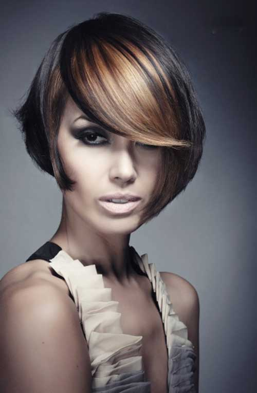 High Low Colored Bob Hair