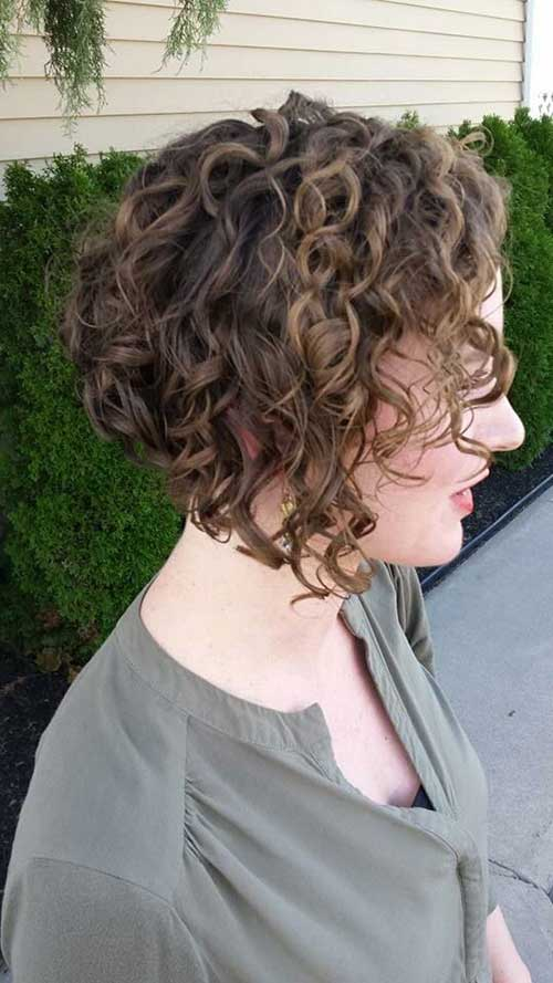 Inverted Curly Bob Hair Styles