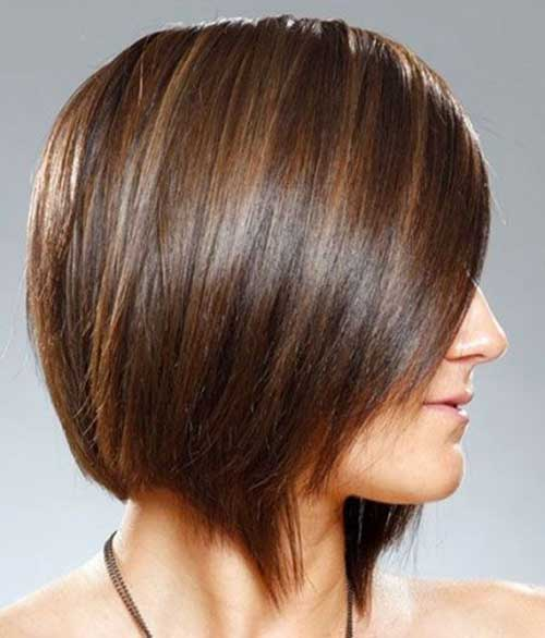 Inverted Brown Bobs for Fine Hair