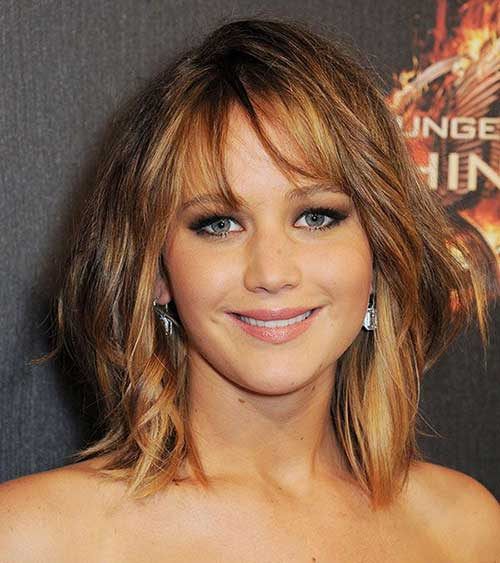 Jennifer Lawrence Layered Bob Hairstyles