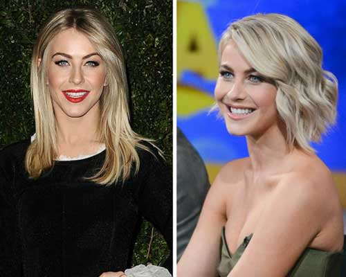 Julianne Hough Blonde Long Bob