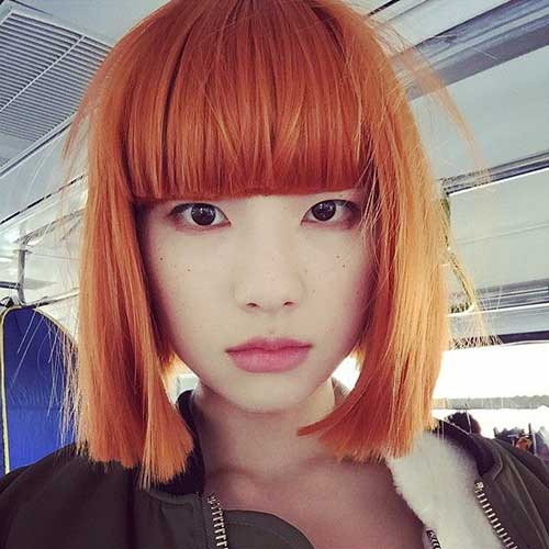 Korean Copper Hair Bob