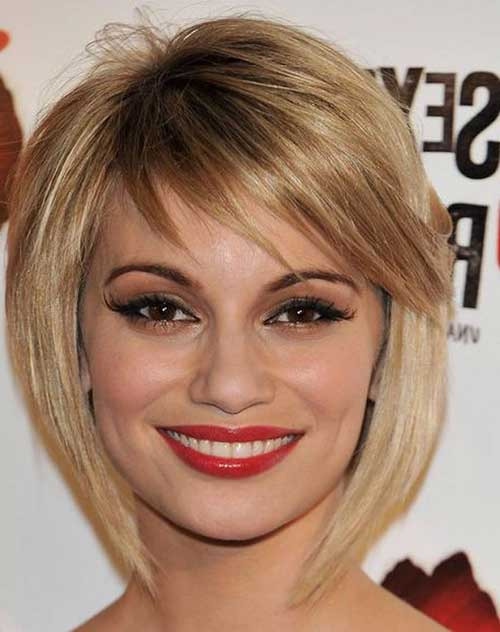 Layered Bob with Side Bangs Styles