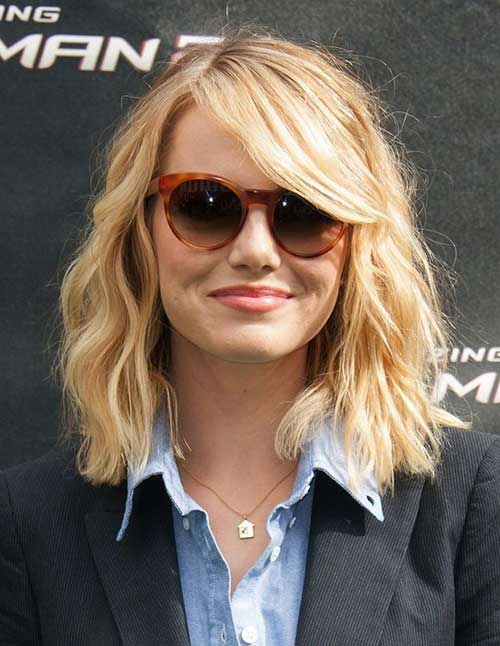 Light Blonde Long Bob Hair
