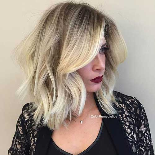 Long Blonde Balyage Bob Hair