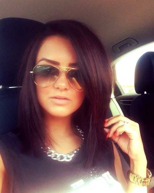 Long Bob Haircuts Dark Hair