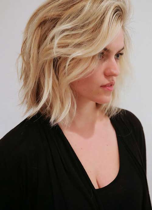Chic Long Bob Wavy Hair