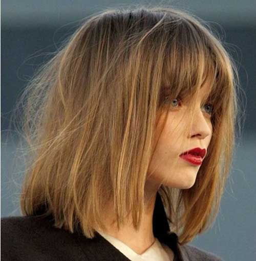 Long Bob with Fringe Bangs 2016