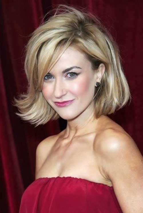 Medium Bob Haircuts Side Bangs 2015
