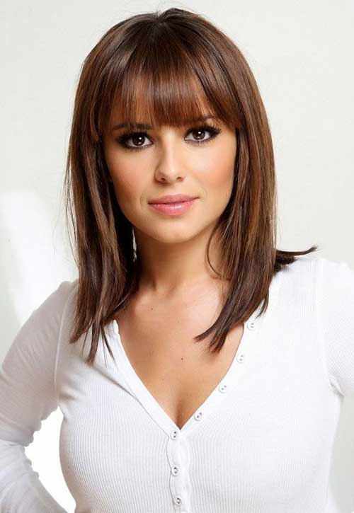 Surprising 15 Medium Length Bob With Bangs Bob Hairstyles 2015 Short Short Hairstyles For Black Women Fulllsitofus