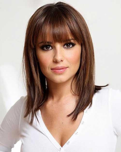 Medium Bob Haircuts for Women with Bangs