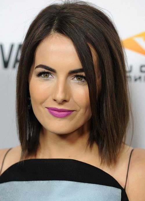 Medium Length Dark Bob Hairstyles