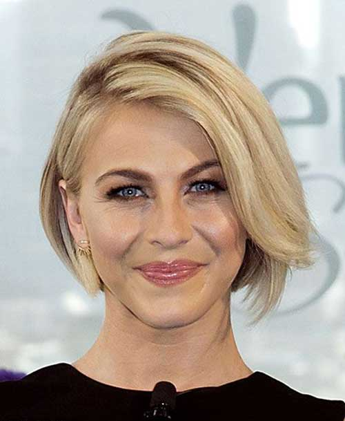Medium Side Swept Bob Hair Style