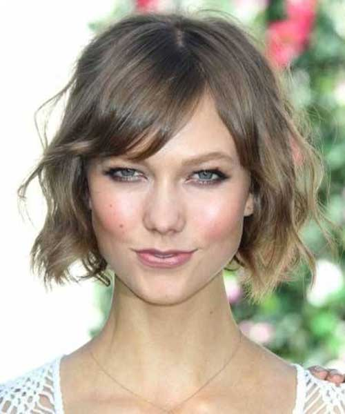 Messy Wavy Bob Hair Bangs