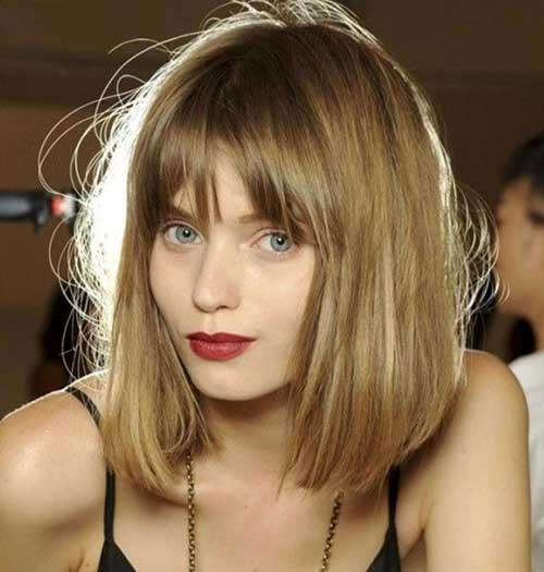 Mid Length Bob Hair with Fringe