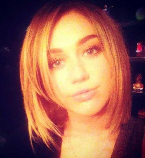 Best Miley Cyrus Long Straight Bob