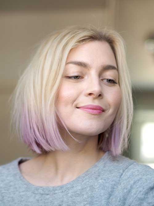 Pastel Blonde Bob Haircuts
