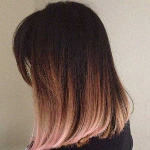 Latest Rose Gold Ombre Bob Hair