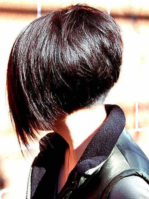 Short Angled Layered Bob Haircut