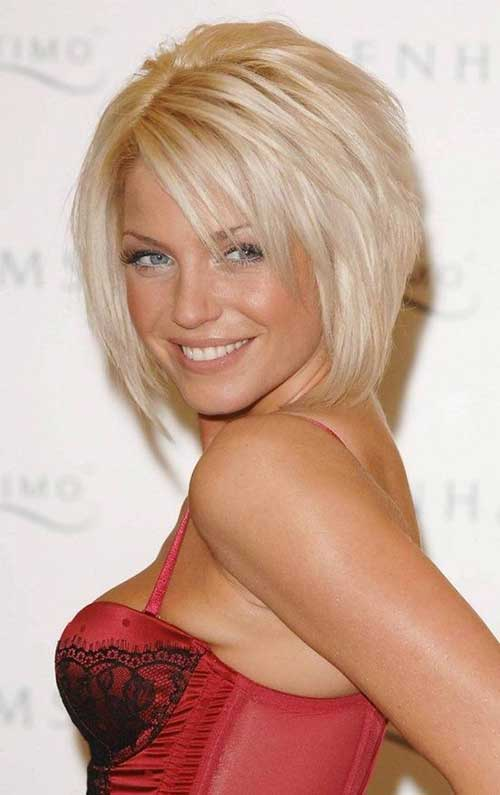 Thick Short Blonde Bob Hairstyles
