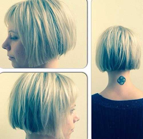 Trendy Short Blunt Bob Hairstyles