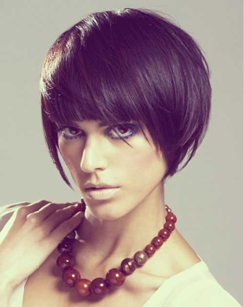 Short Bob Blunt Haircuts with Bangs