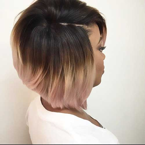 Ombre Short Bob Haircuts Black Women