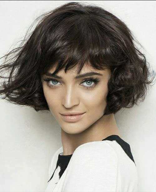 Short Curly Bob Hairstyles Messy Look