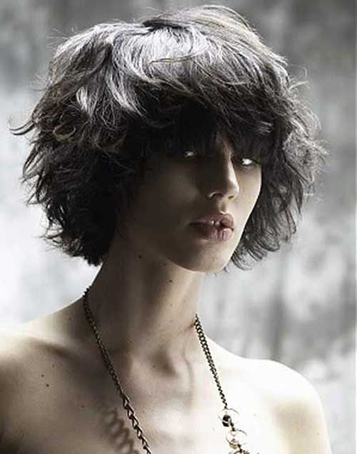 Short Curly Messy Bob Hairstyles Bangs